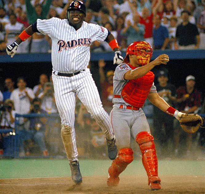 At the 1994 All-Star Game, Gwynn singled to lead off the bottom of the ninth and scored the winning run on a Moises Alou double.