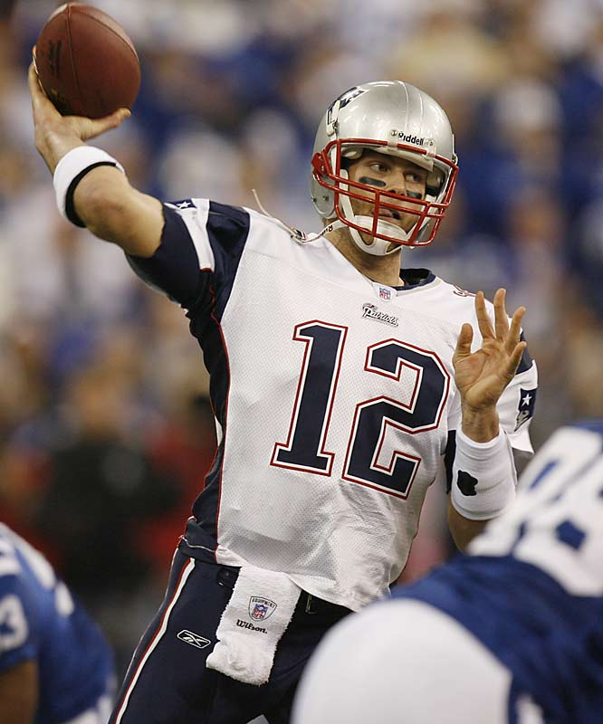 Tom Brady, who has led New England to 24 comeback victories in the fourth quarter, was picked off by Marlin Jackson with 16 seconds left in the game.