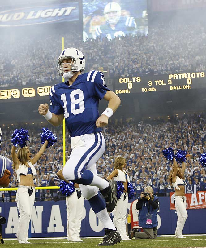 Down by 18 points in the second quarter, Peyton Manning led the Colts on a game-winning, 80-yard drive late in the fourth, for a 38-34 win on Sunday.