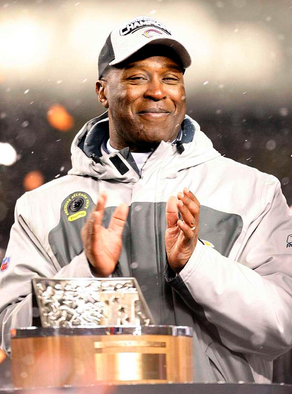 The Bears' 39-14 victory makes Lovie Smith the first African-American coach to qualify a team for the Super Bowl.