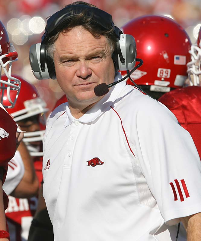 The Cowboys have reportedly been interested in hiring the Arkansas coach in some capacity and now he has to be considered a candidate for the head-coaching job.