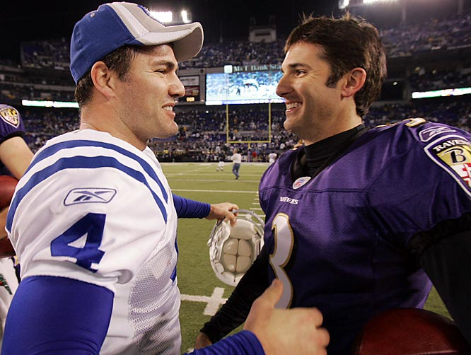 Colts kicker Adam Vinatieri and Ravens kicker Matt Stover scored the only points for their teams in a game void of touchdowns.