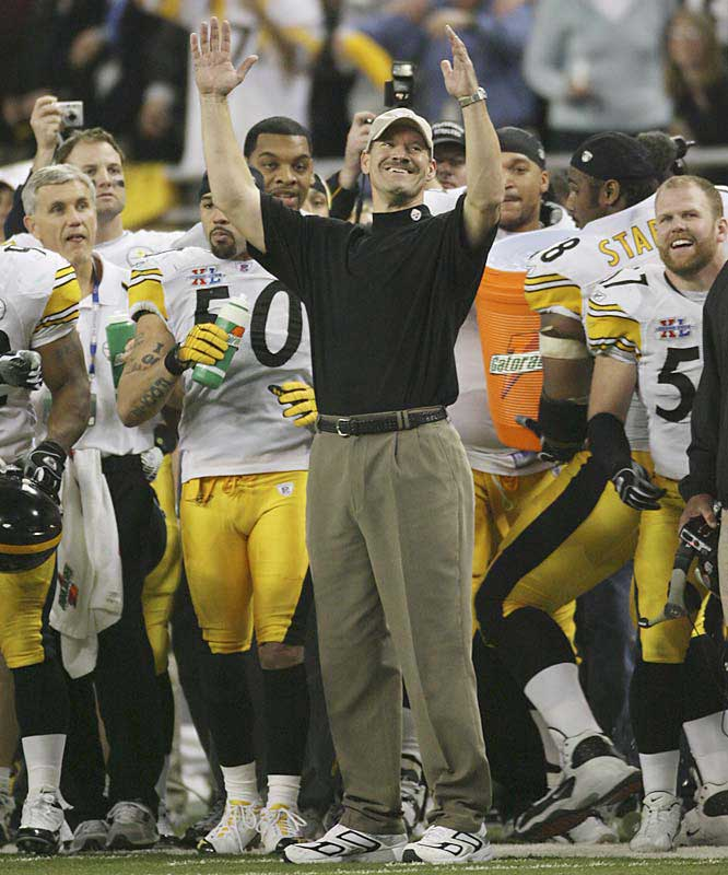 Cowher is a Pittsburgh native and was a perfect fit for the franchise. Emphasizing hard-nosed football, he compiled a 149-90-1 record and won one Super Bowl in 15 seasons. Even if he does end up coaching elsewhere, his jutting chin will always be associated with the Steelers.