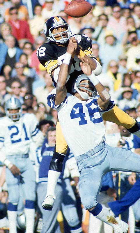 The acrobatic Swann caught just four passes, but they were for a total of 161 yards. His 64-yard touchdown catch in the fourth quarter sealed the 21-17 win over the Cowboys.
