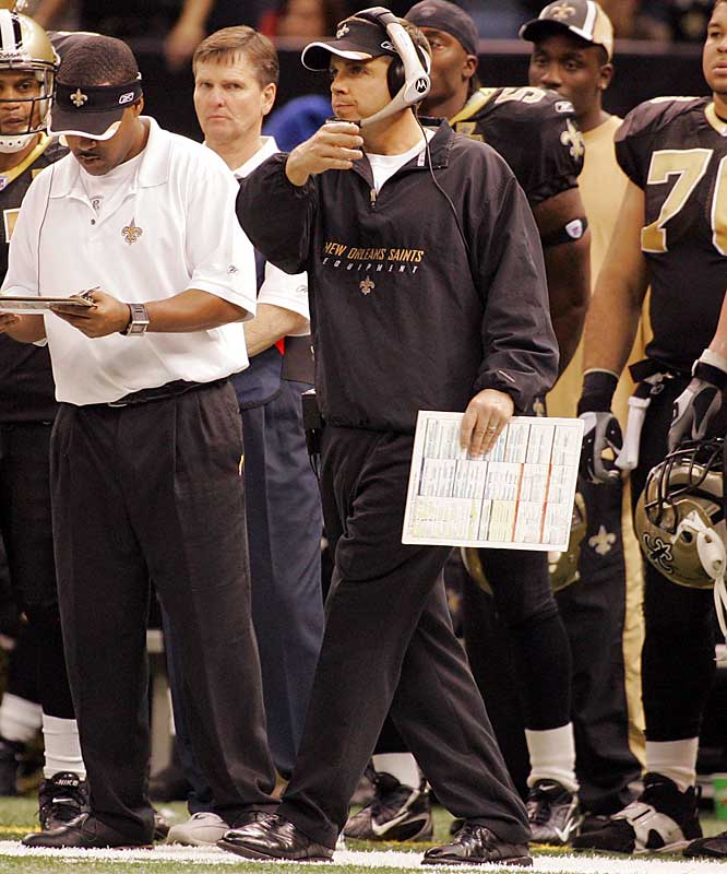 With a spicy offensive approach and pressure-cooker defense, the first-year coach has marched the Saints out of the depths of Katrina's displacement and into unfamiliar territory on the brink of the Super Bowl.