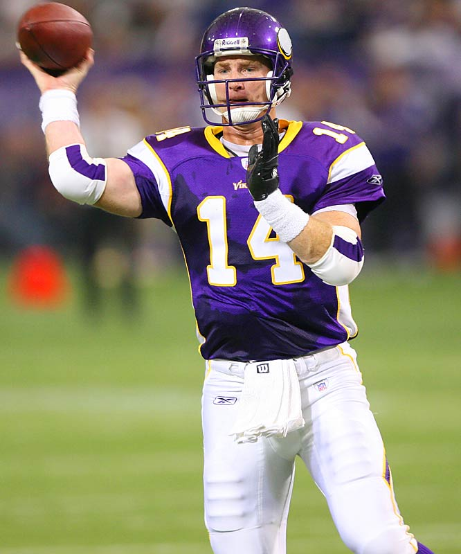 60 ... Vikings quarterback Brad Johnson finished the season with a 61.5 percent completion percentage, extending his NFL record of consecutive seasons with a 60 percent completion percentage or better to 11. The only other player in NFL history to complete 60 percent of his passes in 11 different seasons was Joe Montana.