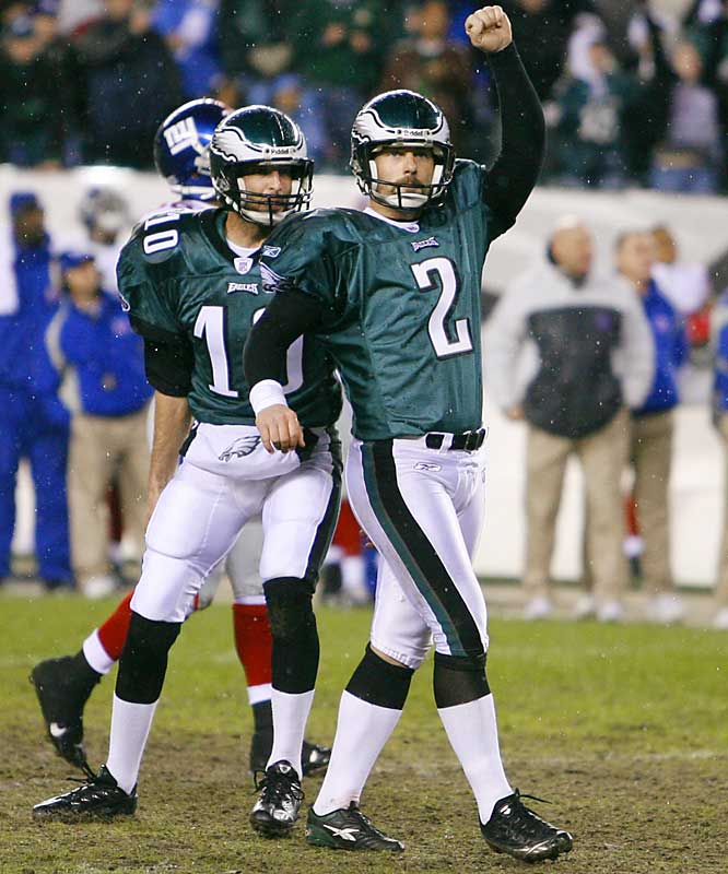 38 ... David Akers' 38-yard field goal was only the third game-winning field goal in playoff history that came on the final play of the fourth quarter.