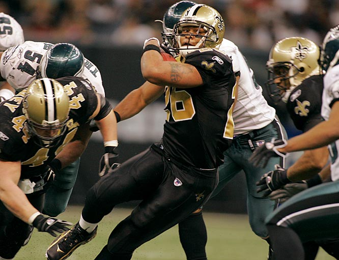 141 ... Deuce McAllister broke the Saints postseason single-game rushing in each half last week. The old record was 49 yards by Fred McAfee in 1991. McAllister had 63 yards in the first half and 80 in the second.