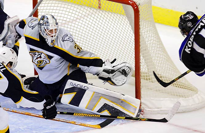 When teammate Tomas Vokoun missed December with a thumb injury, backup Mason proved worthy by posting one of the NHL's highest save percentages as the Preds made a run to the top of the Central.