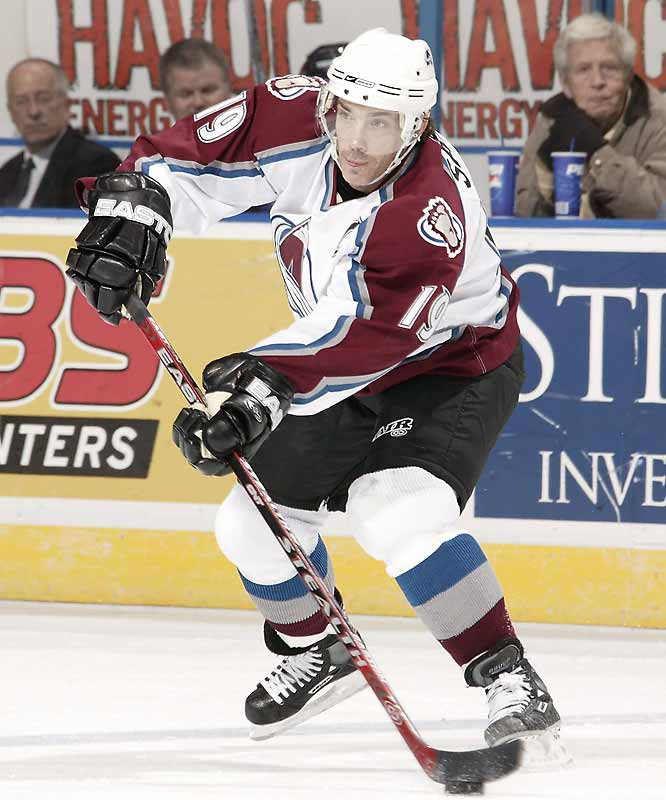 The Avs' respected captain is making the fourth start of his storied 18-year career.