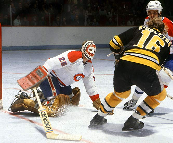 After winning all six of his regular-season appearances, with a 1.65 goals-against average, Dryden was rewarded by starting the first round of the playoffs. He shocked the powerful Boston Bruins of Phil Esposito and Bobby Orr, who had home ice advantage, in seven games.