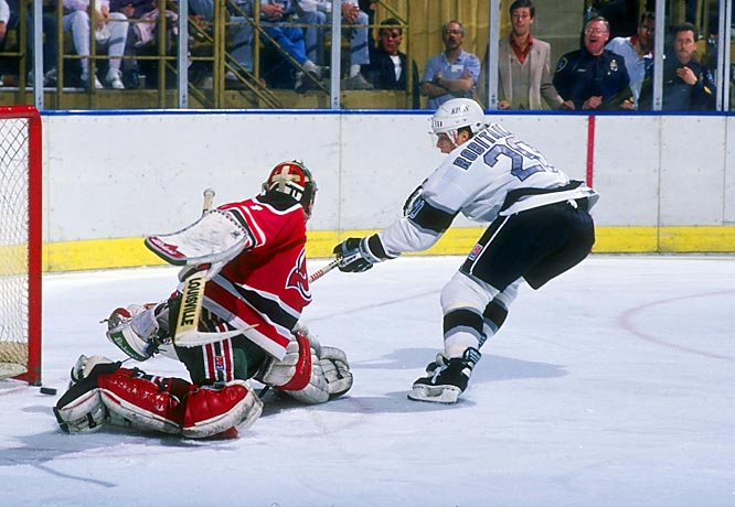 """""""Lucky"""" Luc scored 44 goals or more in each of his first eight seasons with the Kings."""