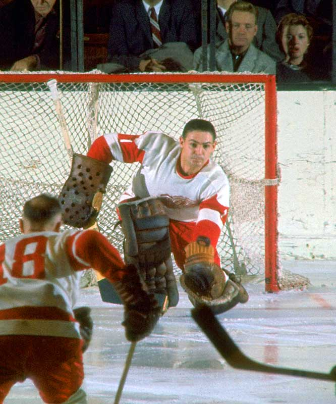 His right arm was two inches shorter than his left and he battled back woes and other ills during his 21 seasons, but he still set the NHL career record of 103 shutouts. (His mark of 447 victories was broken by Patrick Roy.) Sawchuk also won three Stanley Cups with Detroit and Toronto.