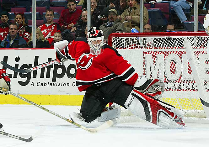 Now in his 15th full season with New Jersey, Brodeur has three Vezina Trophies, three Stanley Cups and a 1.96 playoff GAA on his resume. He's also on the cusp of passing all-time leaders Patrick Roy (551 career wins) and Terry Sawchuk (103 shutouts).