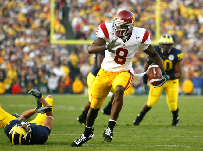 In what may be his last game at USC, junior Dwayne Jarrett had a career-high 204 receiving yards and two TDs.