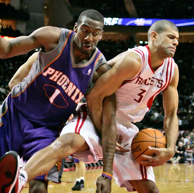 The Suns overcome an early 15-point deficit against the injury-depleted Rockets. (Amare Stoudemire in photo)