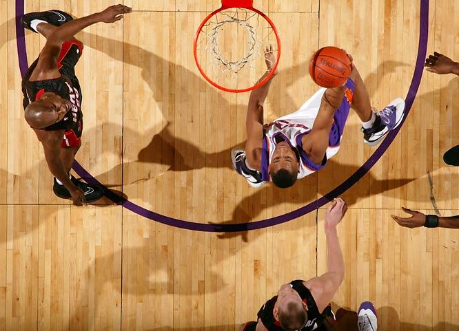 The Suns cruise past the injury-depleted Heat (no Dwyane Wade, no Shaq).