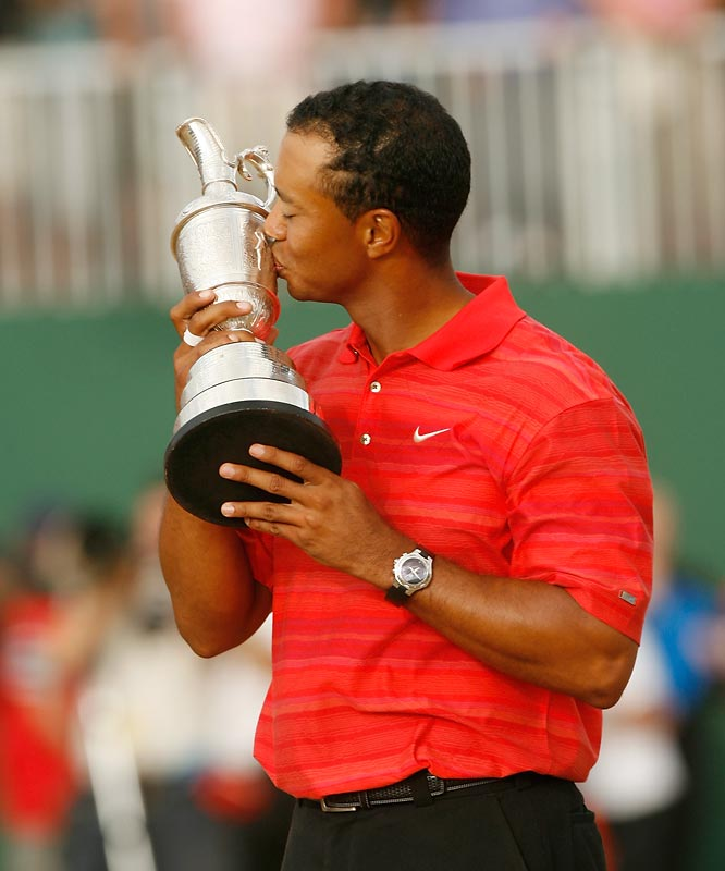 Just two months earlier, Tiger lost his dad to cancer. Woods managed to keep his emotions in check until clinching his two-shot victory at Royal Liverpool -- then his eyes filled with tears, knowing that his 11th major championship would be his first without his dad sharing in the celebration.