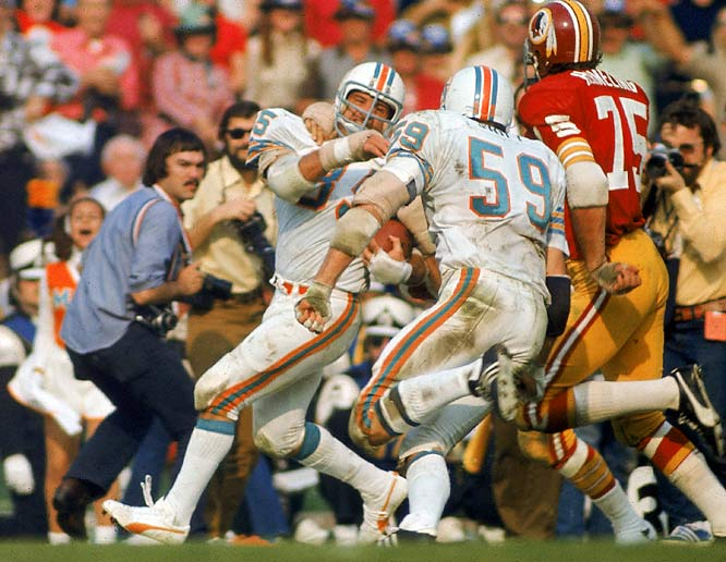 "Buoniconti was the most well-known player on the Dolphins' ""No name"" defense. A Hall of Fame linebacker, Buoniconti had a key interception in Super Bowl VII to help Miami beat Washington 14-7 and preserve a perfect season."