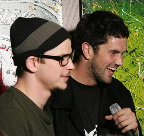 Then Leinart did some karaoke with actor Josh Hartnett.