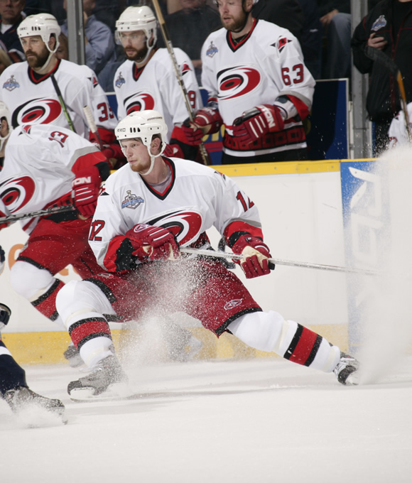 Staal more than tripled his point output from his rookie year (31) during the 2005-06 season, tallying 100 points on 45 goals and 55 assists.