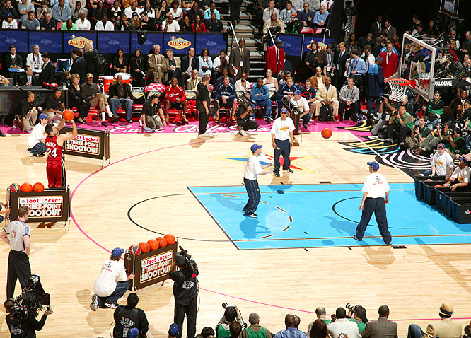 It was Jason Kapono who won the 3-Point Shootout crown. He tied Mark Price's final-round record and fell just one point shy of Craig Hodges' overall mark.