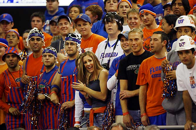 Florida fans make some noise during the Gators 74-64 victory over Vanderbilt on Wednesday.