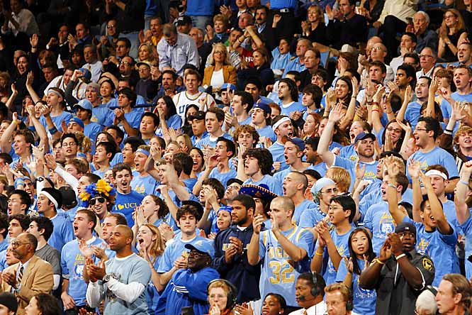 UCLA fans make some noise during the Bruins 67-59 victory over Oregon last Thursday.