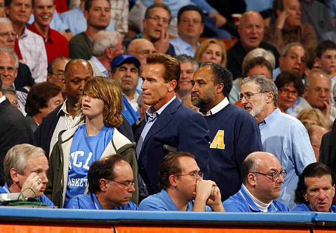 Even the Gubernator -- Arnold Schwarzenegger  -- was on hand for Wednesday's UCLA-USC battle.