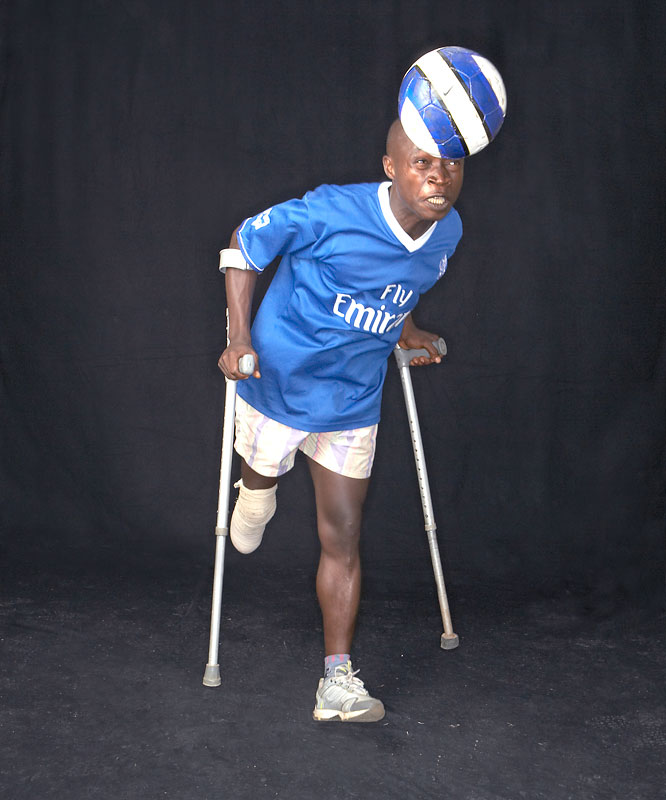 """I love sports and that's how I manage my life now,"" says Sheku Turay, 22, who was shot in the leg in 1999 as an innocent bystander while trying to escape the conflict area in Freetown."