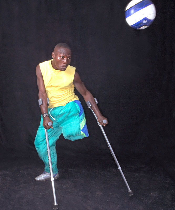 """""""I love this sport too much."""" -- M'Bayo Conteh, 24, who was injured when a tree fell during a severe rainstorm when he was six."""