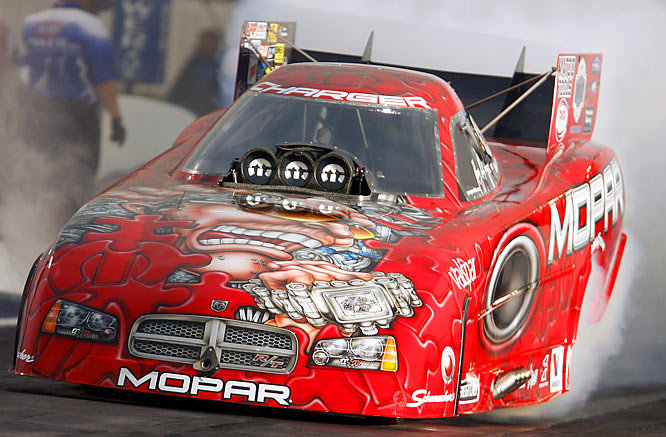 The wicked-looking Gary Scelzi had three Top Fuel titles and one Funny Car championship on his résumé, making him one of two NHRA drivers to win championships in both categories. In 10 seasons of driving, he has won four titles.