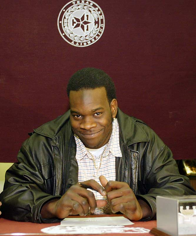 The former prep offensive lineman was switched to defense by Aggies coaches and redshirted in 2003. Adams played in 12 games on the A&M defensive line in 2004. He showed his promise by making seven tackles in a game against Texas. Adams was suspended by coach Dennis Franchione in March 2005 and was dismissed from the team three months later.