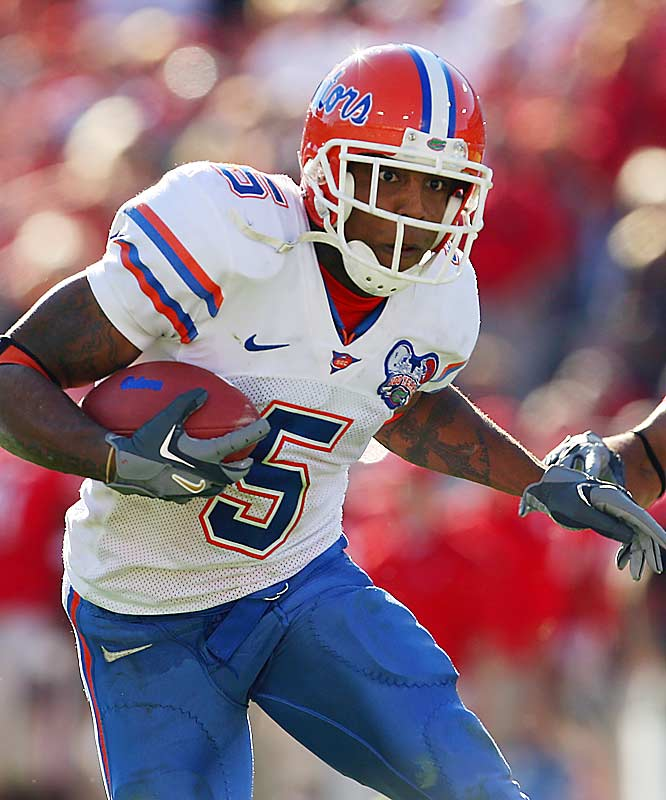 Caldwell played in the first 28 games of his UF career and started 15 in a row before breaking his leg on a kickoff return against Tennessee in early 2005 and missing the rest of the season. He returned to help the Gators win the national championship with 57 receptions for 577 yards and six touchdowns in 2006.