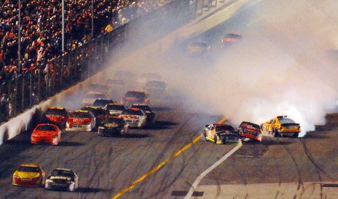 It's a free-for-all on the final lap of the Daytona 500.