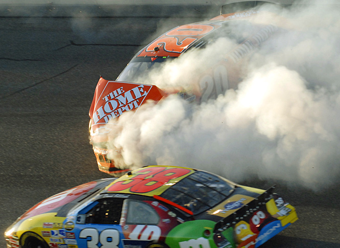 Tony Stewart and Kurt Busch were knocked out after this crash on lap 153.