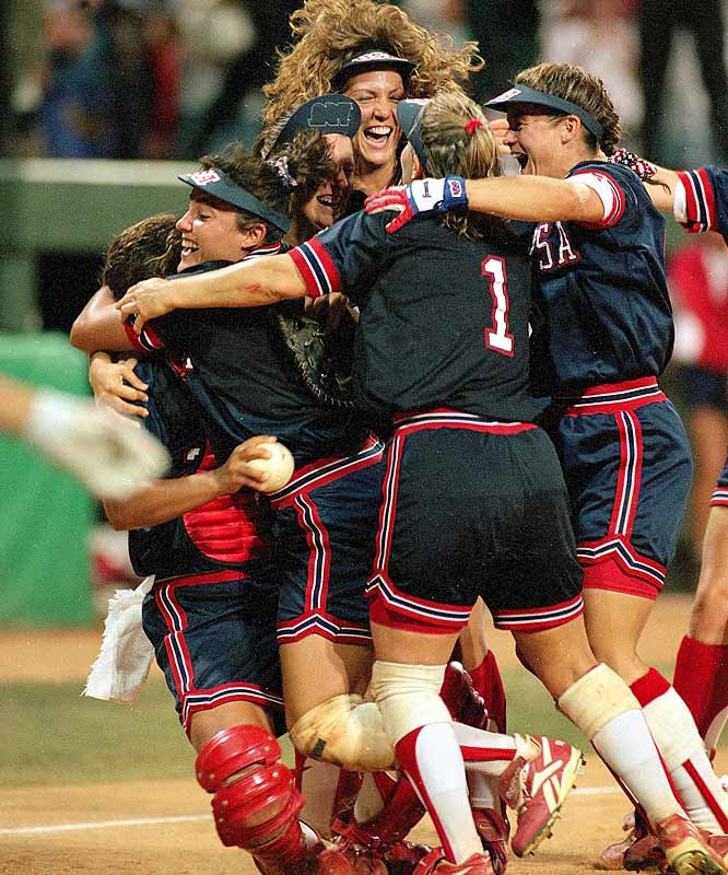 Women's softball and soccer made their Olympic debut at the Summer Games in Atlanta, and the U.S. dominated, winning the gold in both sports, as well as in basketball, gymnastics and synchronized swimming. The Atlanta Games made stars of Lisa Leslie, Mia Hamm and Lisa Fernandez, giving rise to professional softball and soccer leagues for women in the U.S.