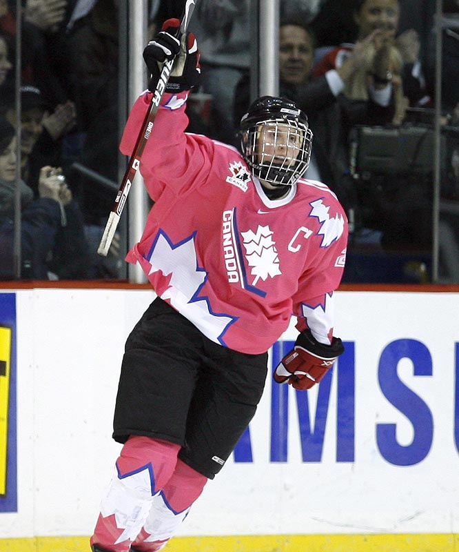 No player in women's hockey drives to the net with such purpose and fury. Hayley Wickenheiser has grown from teen phenom to grande dame of Canadian hockey, carrying the weight of her country and game every time on the ice. She played pro hockey against men in Finland as a way of challenging herself. Sure, Kirkkonummi Salamat was a second-division club, but in 23 games, Wickenheiser acquitted herself well.