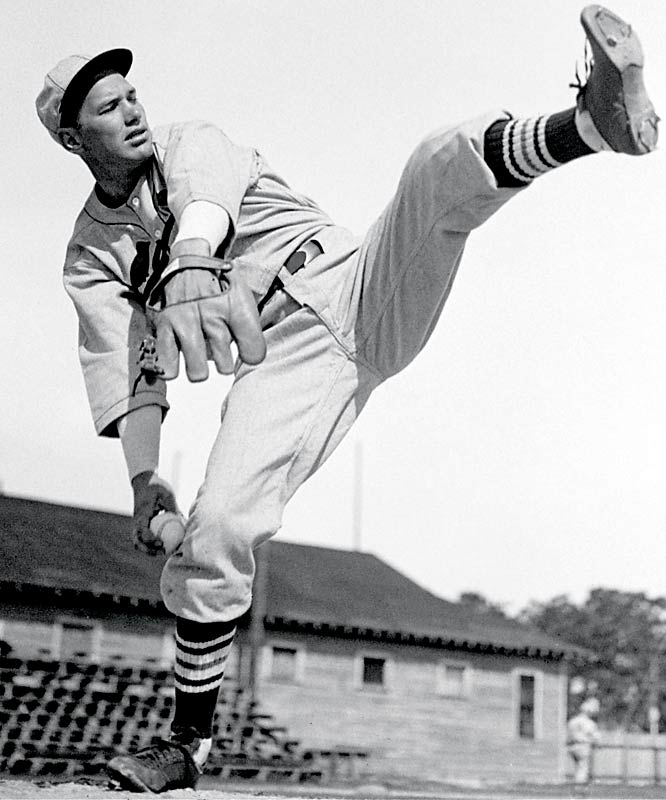 Cardinals ace Dizzy Dean works on his delivery at camp in Bradenton, Fla.