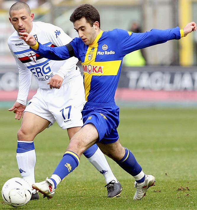 So much for a homegrown superstar. When the motherland came calling for his services at age 13, New Jersey-born Rossi and his Italian parents packed up and moved back to the Boot. Currently on loan to Parma from Manchester United, the 20-year-old looks like he'll don the Azzurri jersey in international play, too -- the talented striker has turned down repeated offers to play for the U.S.