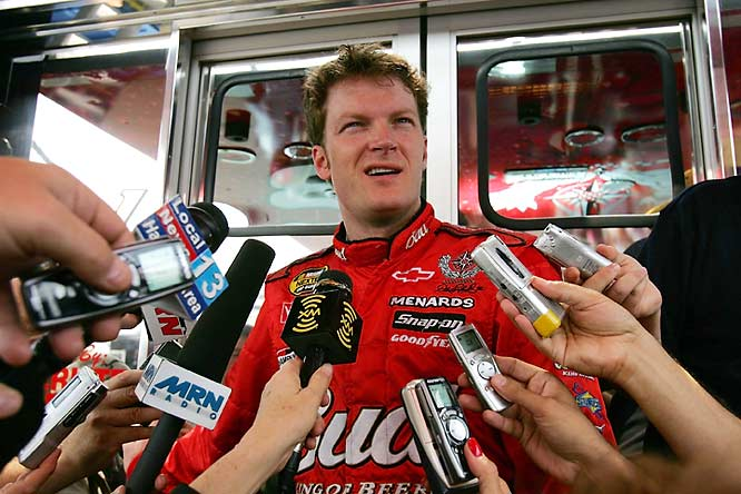 The 2004 season alone puts Junior on this list. He lost $10,000 and 25 points twice that year. First he spun out on purpose at Bristol to bring out a caution, then he used profanity in a live post-race interview. Technically, the latter might not be cheating -- but it certainly wasn't to NASCAR's liking.