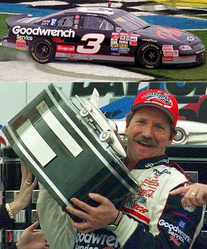 Dale Earnhardt's first Daytona 500 start came in 1979, but it took him nearly two decades to cross the finish line first. It was the most important win of Earnhardt's career. Alas, three years later, the track claimed the life of the Intimidator.