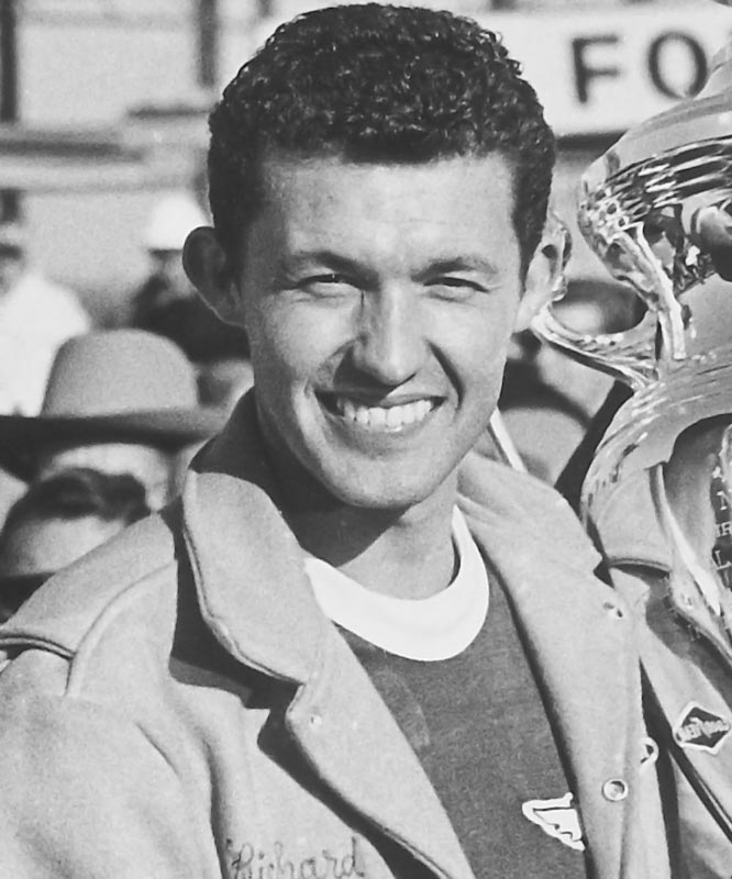 In 48 starts that season, Richard Petty won an amazing 27 races, a record that surely will never be broken. At one point, Petty, in his Plymouth, won 10 consecutive races; he also won 18 times from the pole. His total winnings: $130,275, the first time a Cup champ had earned six figures.