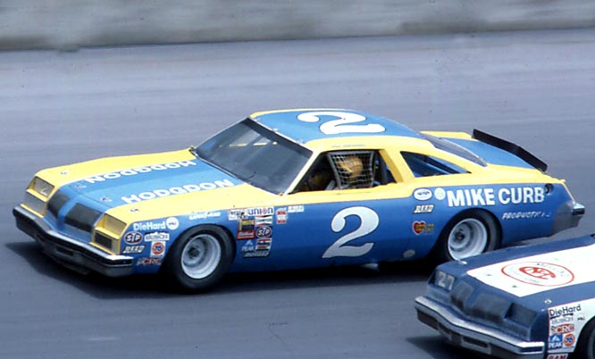 Dale Earnhardt in his Chevrolet.