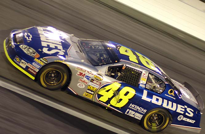 Jimmie Johnson in his Chevrolet.