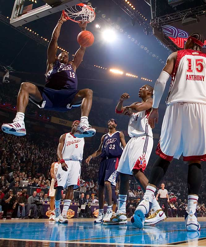 Dwight Howard scored 20 points for the East and had a game-high 12 rebounds.