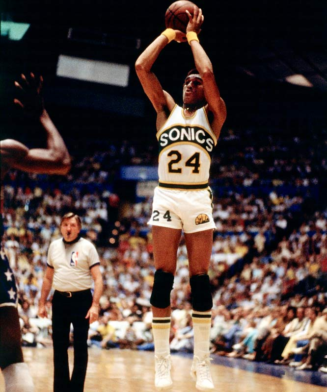 Johnson blossomed in his third season, averaging 15.9 points, making the All-Star team for the first time and winning the NBA Finals MVP as Seattle beat the Washington Bullets for the 1979 title. The Sonics traded the defensive stalwart to Phoenix for Paul Westphal after the 1979-80 season.