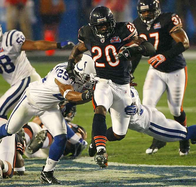Jones has one year left on his contract and reportedly has asked for a trade. The Bears have said they will think it over. Jones ran for 1,210 yards last season and 1,335 in 2005. He also rushed for 112 yards in the Super Bowl.