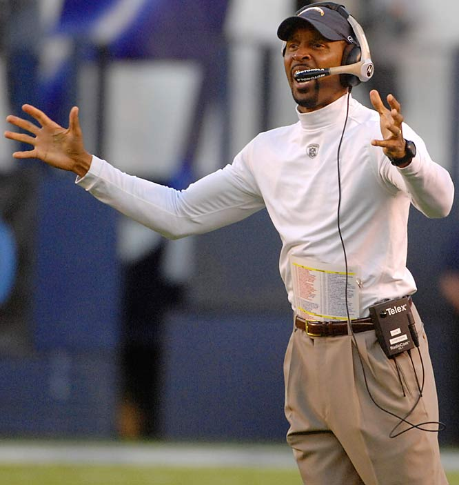 Lofton, currently the WRs coach for the Chargers, interviewed for the Raiders' head-coaching job this offseason and appears to be on a head-coaching track. But it may be too early for him to be promoted that high this offseason.