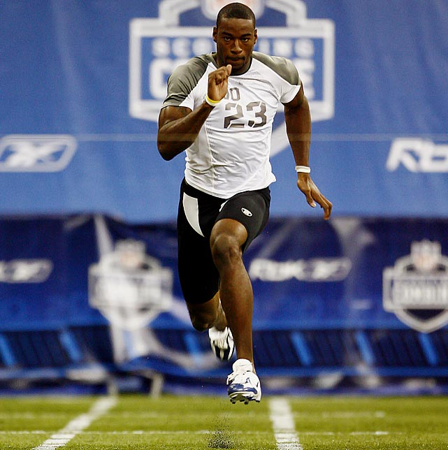 In 2007, Calvin Johnson weighed in at 239 pounds, the heaviest among wide receivers at the combine. His weight and his initial decision to wait until his Pro Day to run the 40 surprised scouts. However, Johnson had a change of heart. He hurriedly reclaimed running shoes he had lent to another player and ran the 40 in a startling 4.35 seconds. The Lions used the second overall pick to select Johnson and he made his first Pro Bowl in 2010.